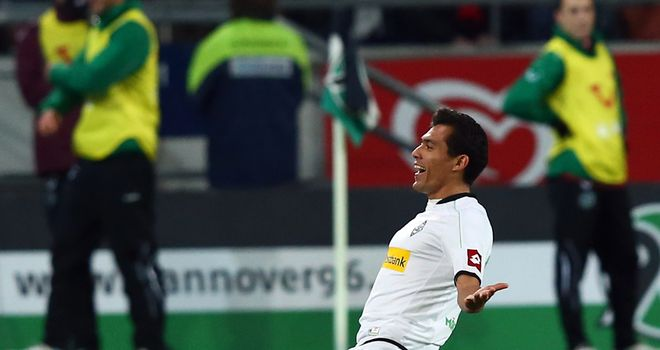 Juan Arango's late free-kick secured victory for Gladbach