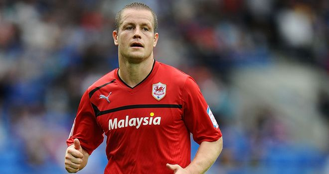 Helguson: At the double for Cardiff