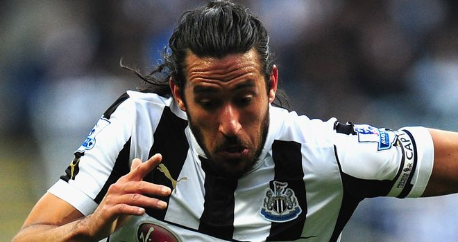 Jonas Gutierrez: Admits that following up a great 2011/12 season has been tough for Newcastle