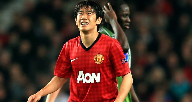 Shinji Kagawa: Has had injury-plagued start to his Manchester United career