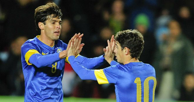 Kaka & Oscar: Shone for Brazil in friendly stroll