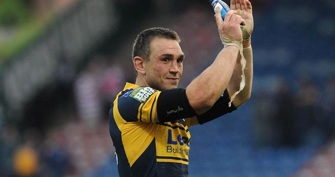 Kevin Sinfield: lifted the Super League trophy for a sixth time as Leeds skipper
