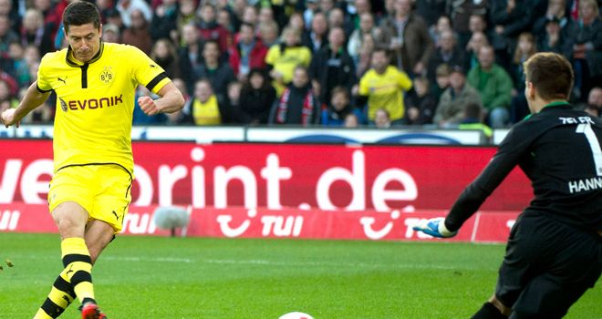 Robert Lewandowski: Opened the scoring for Dortmund