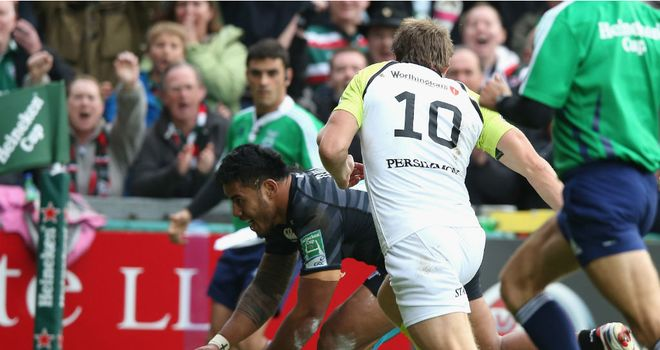 Manu Tuilagi: Scored two tries to help Leicester bounce back to winning ways
