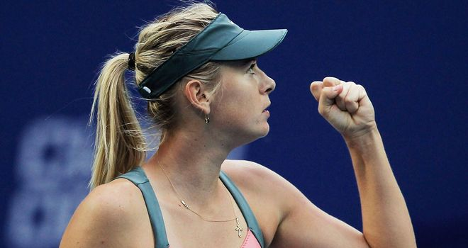 Maria Sharapova: Stylish start to her WTA Championship campaign