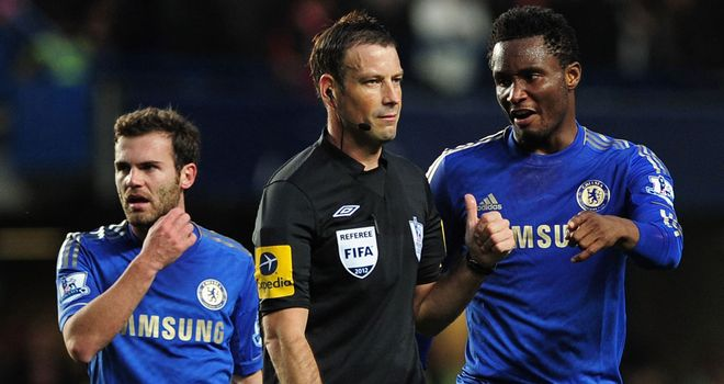 Mark Clattenburg: Alleged to have directed &#39;inappropriate language&#39; at Chelsea&#39;s John Obi Mikel