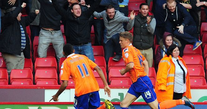 Smith (r): Celebrates his equaliser