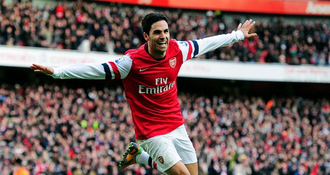 Mikel Arteta: Praised by former manager David Moyes