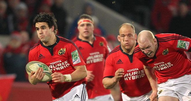 Conor Murray: scored Munster's first try against Edinburgh