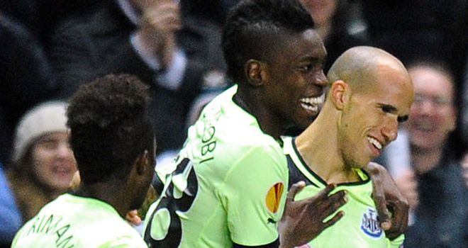Gabriel Obertan: Newcastle United winger scored winner against Club Brugge on Thursday