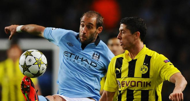 Pablo Zabaleta: Manchester City defender remains hopeful of progress in the Champions League