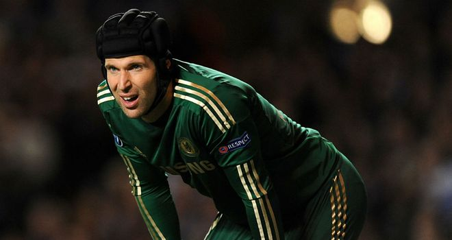 Petr Cech: The Chelsea goalkeeper has a 30% better record than Joe Hart for saving shots