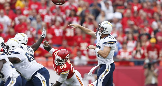 Philip Rivers: Threw for 209 yards with two touchdowns for the Chargers against the Chiefs