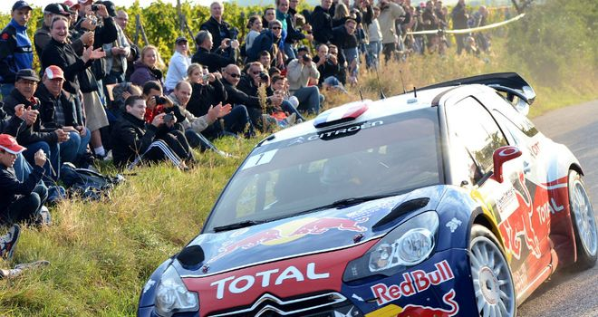 Sebastien Loeb: Takes big lead into the final day as he looks to win title