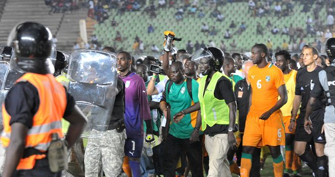 Crowd trouble caused match to be abandoned