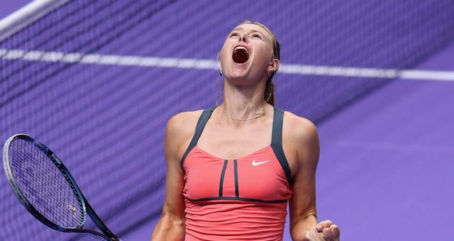 Maria Sharapova: Delighted after reaching WTA Championship final in Istanbul