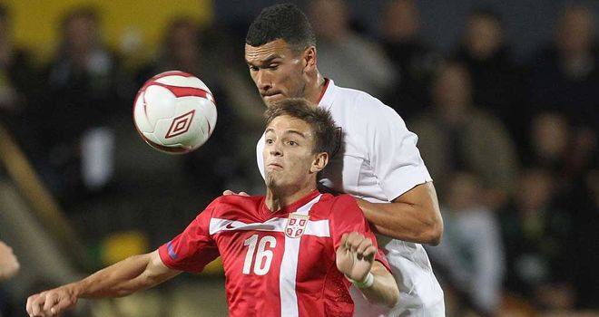 England U21s opened up a narrow lead against Serbia in their play-off first leg