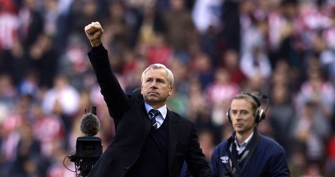 Alan Pardew: Newcastle manager was very proud of his players after the 1-1 draw at Sunderland