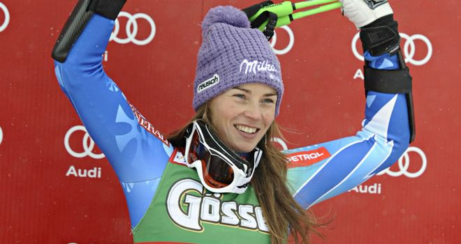 Tina Maze: Took an early lead in the overall World Cup standings