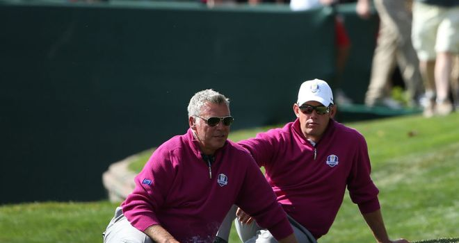 Lee Westwood (R) believes Darren Clarke (L) is the outstanding candidate to lead Europe in 2014