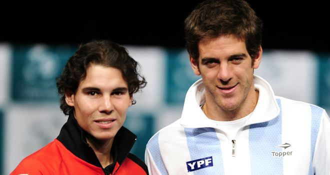 Juan Martin del Potro (R) has expressed sympathy for Rafael Nadal (L)