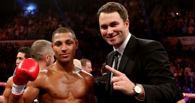 Eddie Hearn (R) wants Kell Brook to be at his very best against Devon Alexander