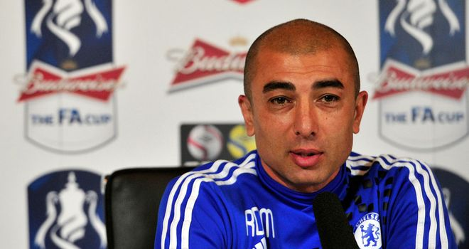 Roberto Di Matteo: Chelsea manager attempting to take the sting out of Saturday's clash with Spurs