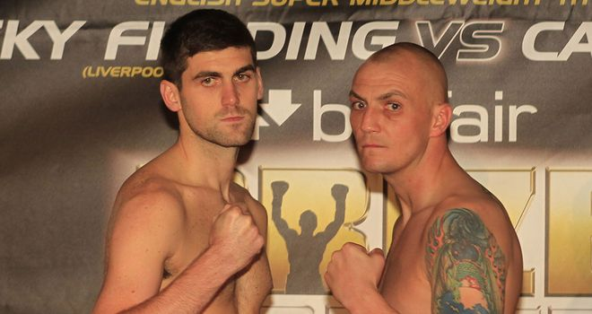 Rocky Fielding (L) tops the Prizefighter bill against Carl Dilks (pic Lawrence Lustig)
