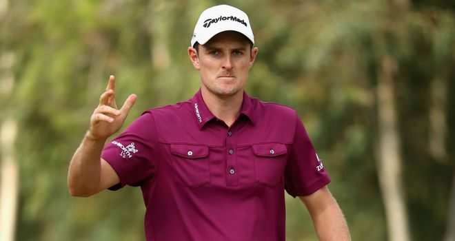 Justin Rose: recorded a birdie at the 13th and then an eagle at the next to turn the tables on Tiger Woods