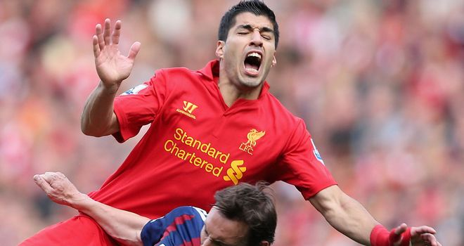 Luis Suarez: Has been accused of diving to win penalties against Manchester United and Stoke in recent weeks