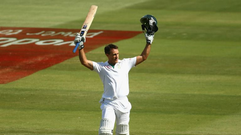Du Plessis: Took the plaudits on day five