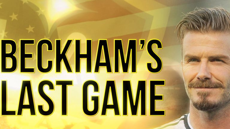 David Beckham: Preparing to play his last competitive game for LA Galaxy on Saturday