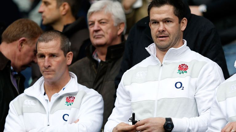 Stuart Lancaster and assistant Andy Farrell