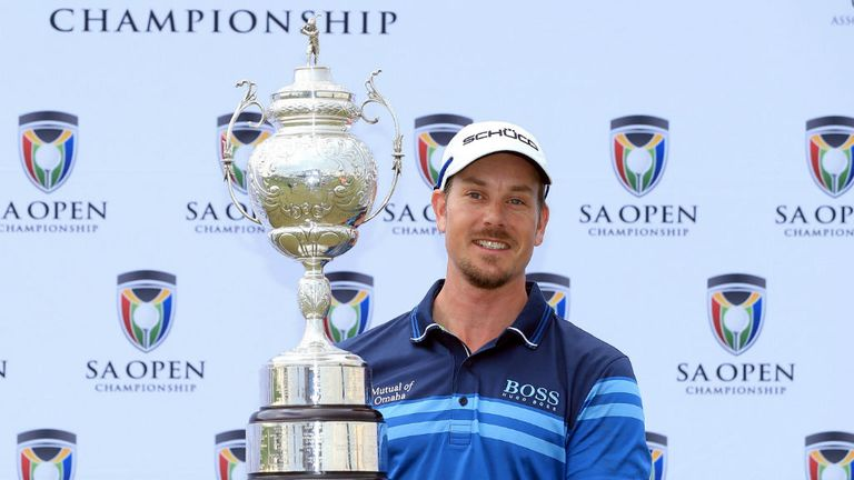Henrik Stenson: Won the South Africa Open by three shots on Sunday