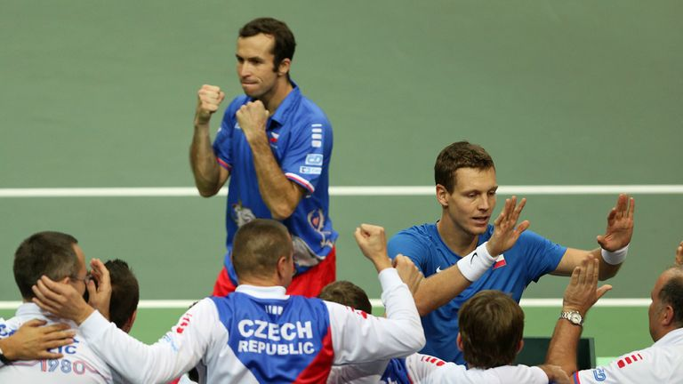 Tomas Berdych and Radek Stepanek: Won the 13th of their 14 Davis Cup doubles rubbers together