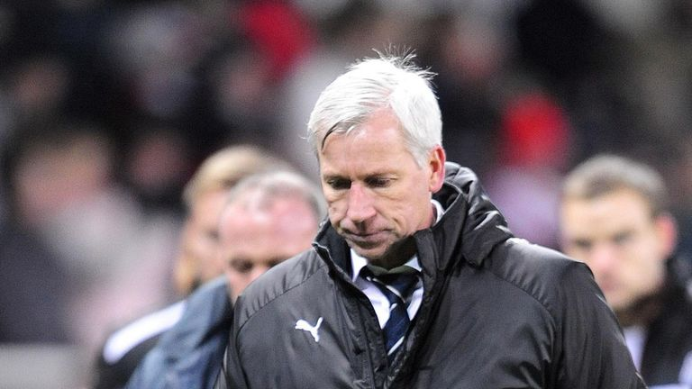Alan Pardew's side have lost four in a row