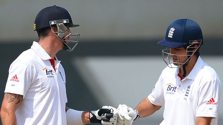 Kevin Pietersen and Alastair Cook: Shared a stand of 206