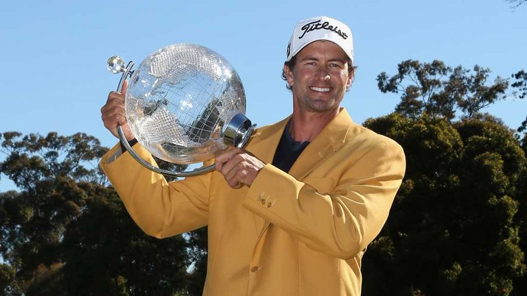 Adam Scott: Gold jacket and a trophy for Australian Masters victor