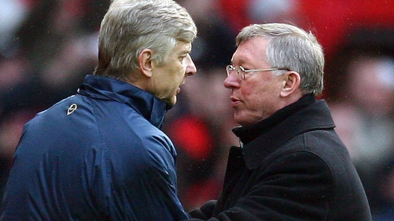 Arsene Wenger and Sir Alex Ferguson enjoyed some intense battles