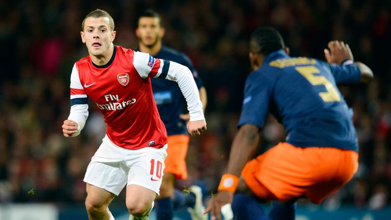 Jack Wilshere: broke the deadlock against Montpellier after the break
