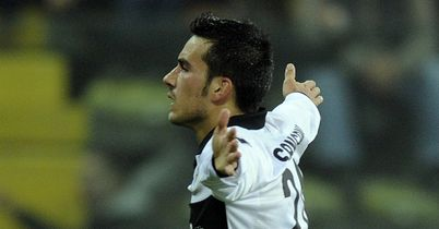 Nicola Sansone: Celebrates putting Parma ahead