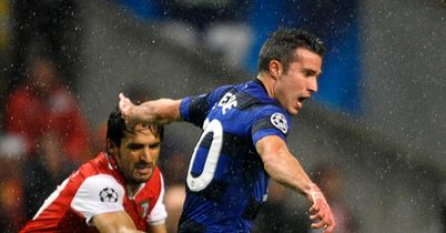 Van the man: Van Persie notched United's equaliser in Braga