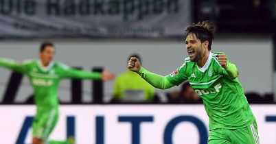Diego: Celebrates his goal for Wolfsburg