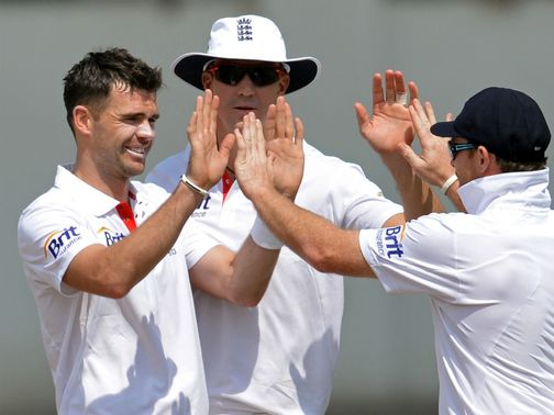 James Anderson: Pleased with day&#39;s work