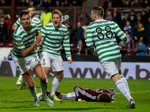 Mikael Lustig found the net in Celtic's victory
