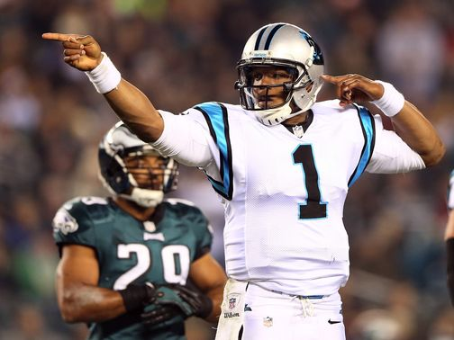 Cam Newton: Led Carolina to victory over the Eagles