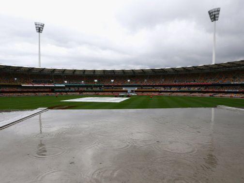 The weather ensured no play on day two in Brisbane