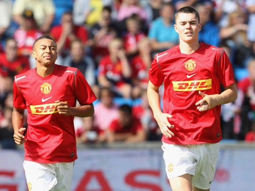 Lingard & Keane: Will remain at Leicester until January