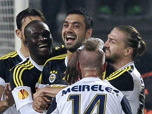 Fenerbahce celebrate against Marseille