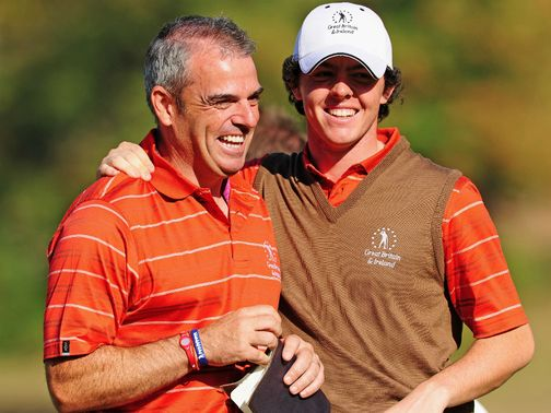 Rory McIlroy has backed Paul McGinley for the role
